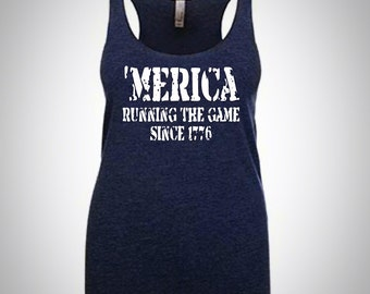 4th of July shirt women / merica /Time to get Star spangled tank /Womans shirt