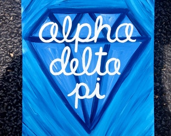Alpha Delta Pi Sorority Canvas Painting