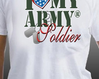 I Love My Army Soldier Patriotic United States Military T-Shirt