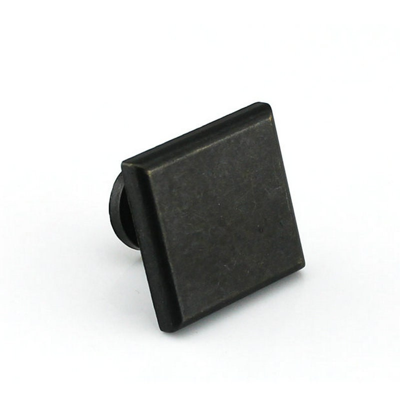 5 10 25 Cabinet Pull Square Drawer Handles Kitchen: Dresser Knobs Pulls Drawer Knobs Square Metal Antique Black