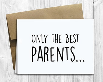 PRINTED CUSTOM Only the Best Parents Get Promoted to Grandparents Pregnancy Announcement 5x7 Greeting Card - Cute Expecting Notecard