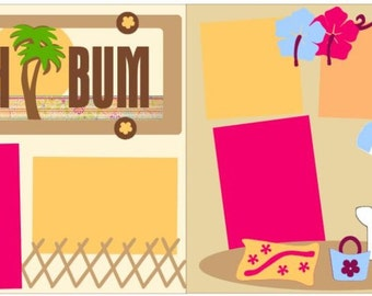 "Scrapbook 2 Page Layout ""Beach Bum"""