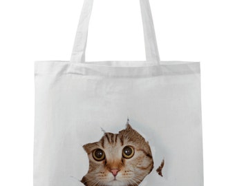 Realistic Cat Tote Bag  *Free Worldwide Shipping*