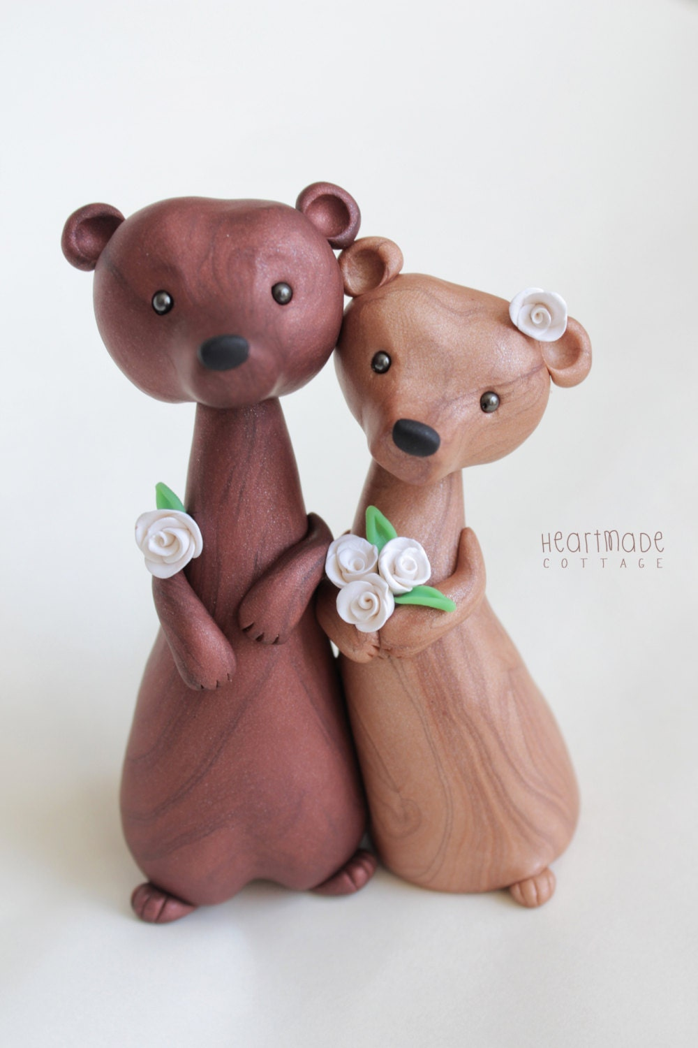 animal wedding cake toppers uk wedding cake topper personalized animal clay cake 10775