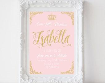 Princess Royal invitation Digital File