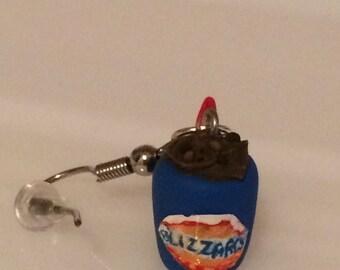 Miniature Dairy Queen Blizzard Earrings