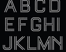 SALE! Rhinestone template Alphabet: dxf, svg, pdf, ai, png, eps vector files Instand download