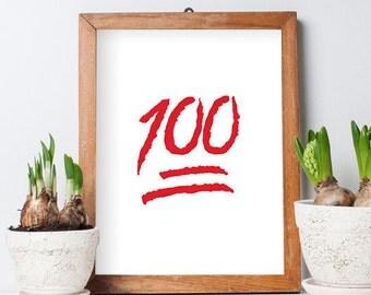 100 Emoticon Poster