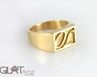 gold initial ring initial ring personalized ring letter ring monogram ring personalized jewelry name ring gold ring personalized gift signet