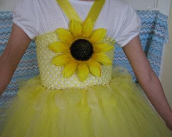 Cute Sunflower Tutu Dress For Little Girls