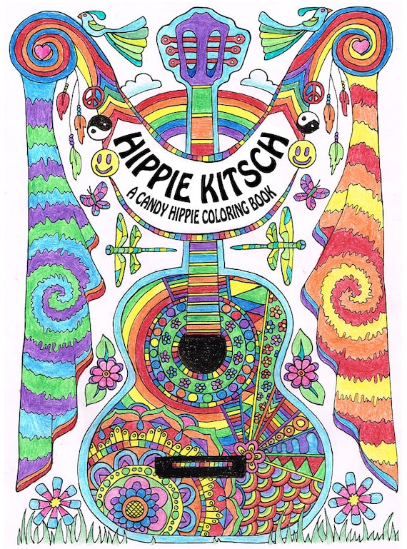 Hippie Kitsch Printable Adult Coloring Book 10 Adult