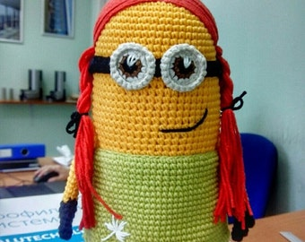 Girl Minion Crochet Toy