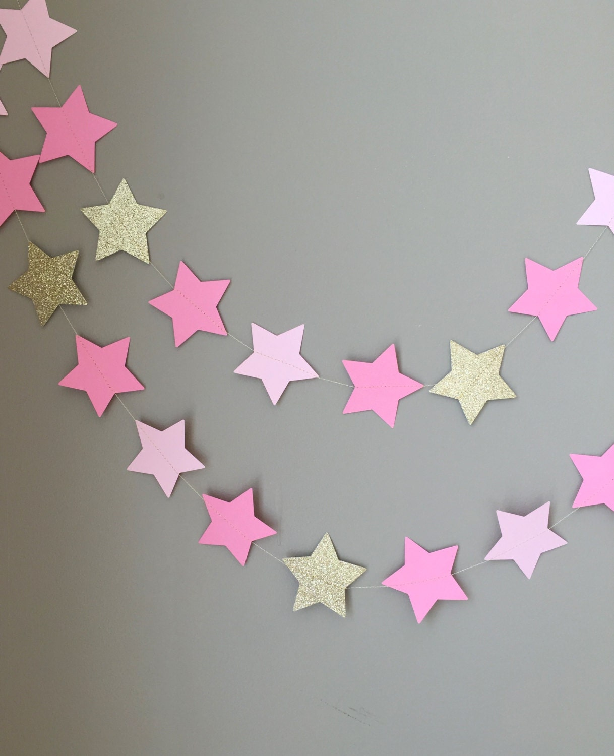 Twinkle Twinkle Little Star Garland Baby Shower Decorations First Birthday Pink And Gold