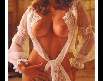"""Mature Playboy January 1974 : Playmate Centerfold Nancy Cameron Double Sided 3 Page Spread Photo Wall Art Decor 11"""" x 23"""""""