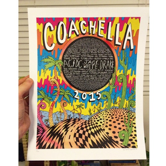 Coachella 2015 Limited Edition Poster Prints By EricVozzola