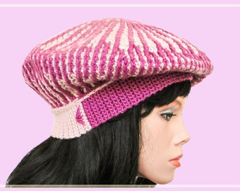 Striped crochet slouchy beret pattern Crochet hat patterns Crochet beret pattern Crochet beanie patterns crochet beret patterns slouch hat