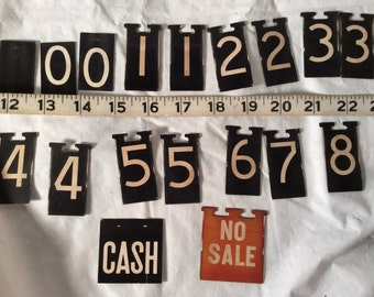 Cash Register Price Flag Markers Lot with CASH and NO SALE