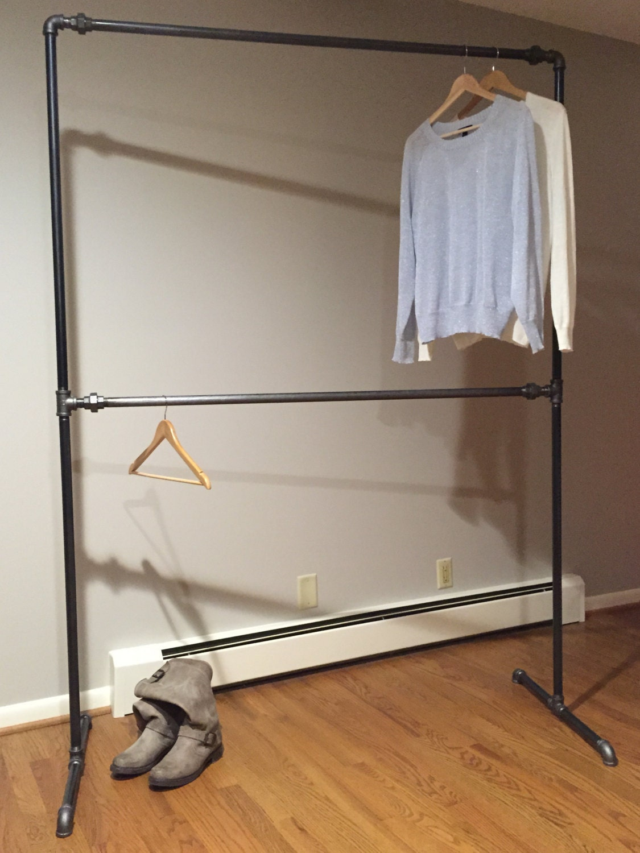 Industrial Style Free Standing Closet Wardrobe