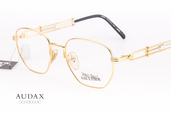 Jean Paul Gaultier 55-4174 22KGP / square eyeglasses with gold