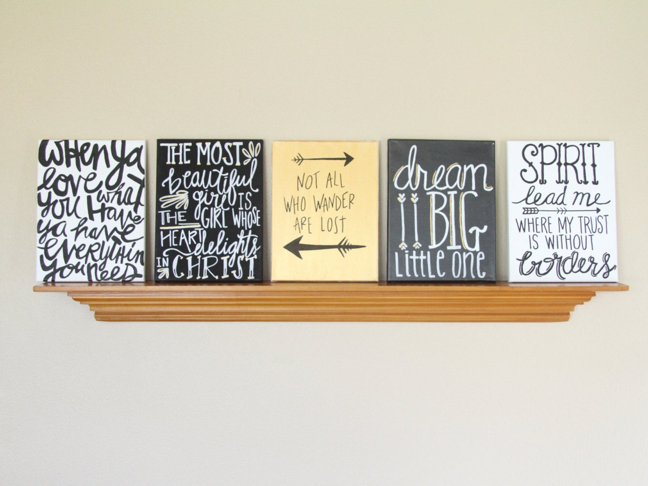 Canvas painting quotes set black gold white handmade - Exterior painting quotes set ...