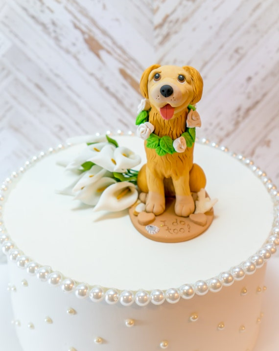 Golden Retriever Cake Topper Blond Golden by DogCakeTopper ...