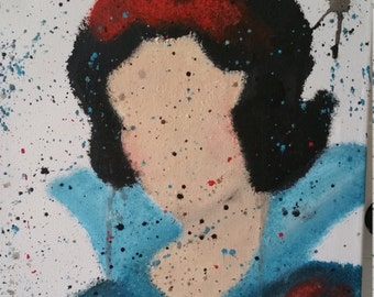 Sneeuwwitje Disney, Snow white acrylic painting
