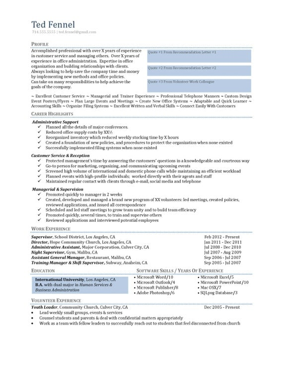 Entry level phd resume