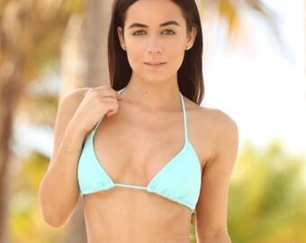Mint Bikini Triangle Top