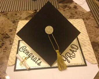 Pop Up Graduation Cap Card