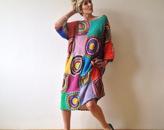 Plus Size Clothing Women's Dress - Crochet ,Light Silky Yarn - MADE TO ORDER