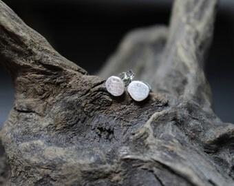 Freeform Studs Post Sterling Silver Earrings / Minimalist Earrings Jewelry / Recycled / GUGMA Women's Men's Handmade