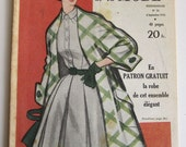 Vintage French Fashion and Ladies Magazine Le Petit Echo de la Mode No. September 6, 1953 With Sewing Patterns