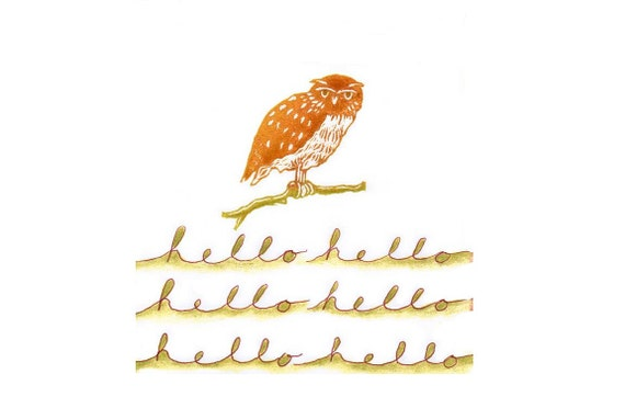 Owl On A Branch Rubber Stamp, Realistic Owl stamp, Custom Carved Rubber Stamp, Shop Logo Rubber stamp, Custom Tag Stamp, Bird Enthusiast