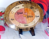 Unity Ceremony Wedding Puzzle Unique Unity Ceremony  Alternative Custom Personalized Family Puzzle Wooden Tray Puzzle