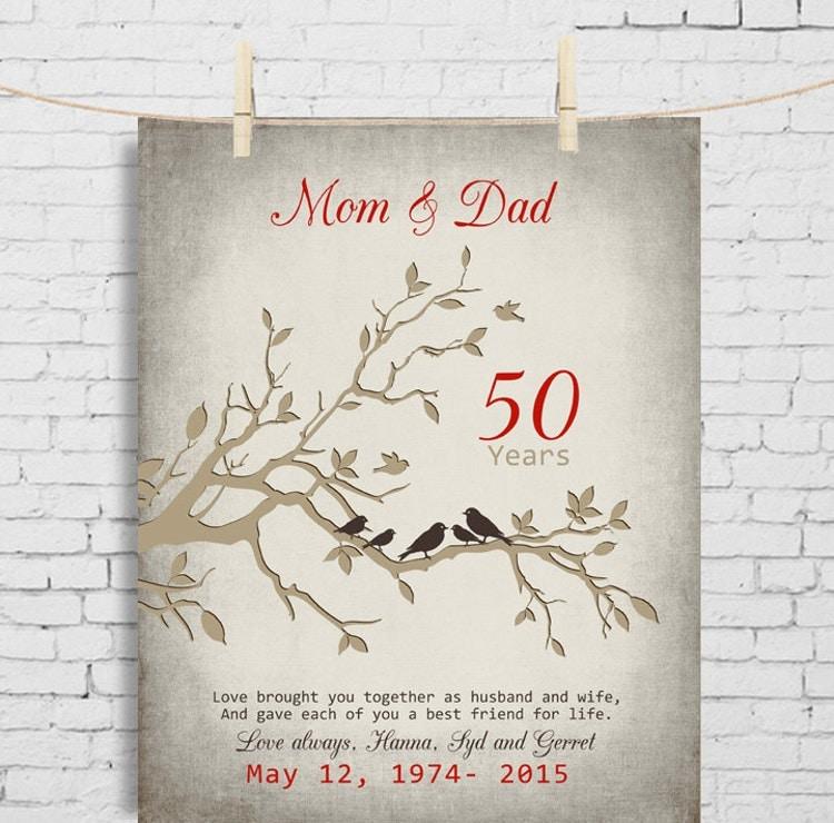 50 Wedding Anniversary Gifts: 50th Wedding Anniversary Gift Anniversary Gift For By