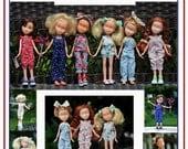 "Jumpsuit & Sunsuit Romper Pattern Tutorial Pictorial PDF Doll Clothes Fits 9""  Bratz Licca Jenny Blythe Skipper  Fashion Dolls"