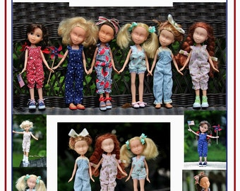 "Jumpsuit & Sunsuit Romper Pattern Tutorial Pictorial PDF Doll Clothes Fits 9""  Bratz Licca Jenny Blythe Skipper  Fashion Dolls"