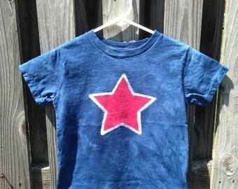 Patriotic Kids Shirt, Patriotic Boys Shirt, Patriotic Girls Shirt, Kids Star Shirt, Blue Star Shirt, Red Star Shirt, Fourth of July Shirt