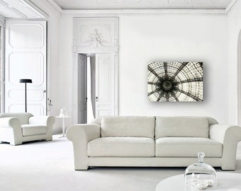 Paris Canvas, Large Canvas Art, Galeries Lafayette Dome, Modern, Abstract, Wall Art Canvas, Art Nouveau