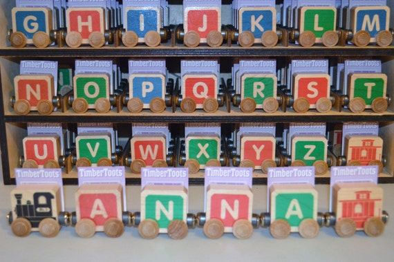 wooden name train free shipping 3