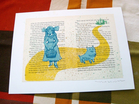 Wizard Of Oz Dorothy and Toto LitKids Print