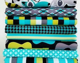 It's a Boy Thing / Lagoon Fat Quarter Bundle - Michael Miller Fabrics