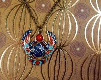 Egyptian Scarab Beetle Necklace