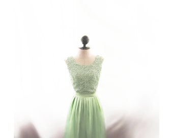 Bridesmaid Dress Green Lace Jane Austen Mint Gown July Victorian Elven Skater Prom Dress Lord of the Rings Ethereal Romantic Game of Thrones
