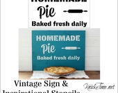 Homemade Pie Sign Stencil  Home Decor Vintage Sign Stencils