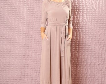Custom  Bridesmaids dress - made to order dress -  Modest midi dress with sleeves