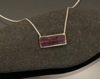 Modern Tourmaline Necklace in Pink Hues