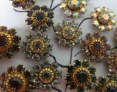 Vintage Swarovski  Assorted Flower  Crystal Finding