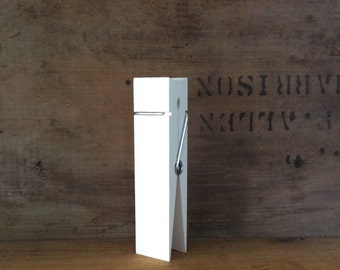 Large Clothespin, Ivory White, Jumbo Clothespin, Wedding Decor, Table Number Holder, Party Decor, Photo Holder