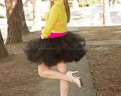 Black Tutu Skirt/Tulle Skirt/Women Tulle Skirt/Tulle Tutu/Wedding Skirt/Black Tutu Skirt/Tulle Skirt/Black Skirt/ Black Tutu